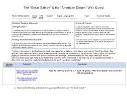 "the great gatsby and the american dream web quest pdf the ""great gatsby"" the ""american dream"" web quest nichole"