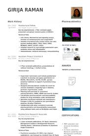 Postdoctoral Fellow Resume Samples Visualcv Resume Samples Database