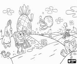 Kleurplaat Spongebob Patrick En Kwallen Kleurplaten
