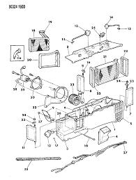 1993 dodge w250 air conditioner heater unit diagram 0000067y