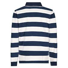 stripe rugby shirt cloud white navy display all pictures