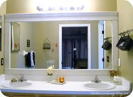 Bathroom Mirror Framed Crown Molding Design Wall Decorative