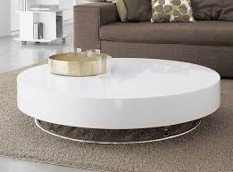 contemporary low round coffee table