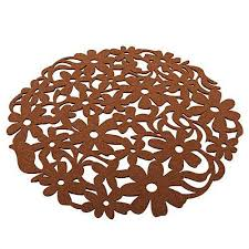 images gallery universal 1pcs round non woven placemats table mat felt dining tablemats brown