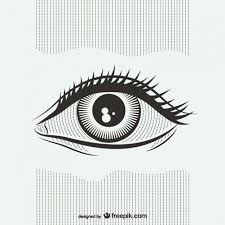 Black And White Eye Illustration Vector Free Download