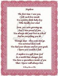 I Love You Nephew Poems Nephew Poem Is About A Special Nephew Gorgeous Nephew Quotes Pineinterest