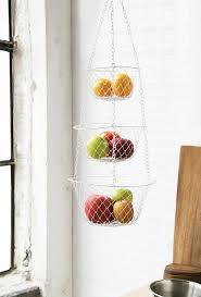 Amazon.com: Fox Run 52101 Three Tier Hanging Wire Baskets, White: Hanging  Fruit Basket: Kitchen & Dining