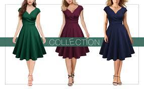 Amazon Com Missmay Womens Retro 1950s Short Sleeve A Line