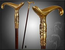 Ladies Walking Canes Decorative brass walking cane LADIES WALKING STICK CANE HIKING STAFF 24