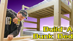 Built In Bunk Beds Easy And Strong 2x4 2x6 Bunk Bed 6 Steps With Pictures