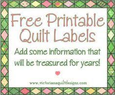 The 25+ best Quilt labels ideas on Pinterest | Labels for quilts ... & Free Printable Quilt Labels Adamdwight.com