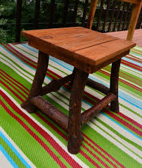 rustic outdoor table and chairs. Rustic Stool. Outdoor Patio Furniture Set Table And Chairs E