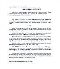 Service Level Agreement Template Extraordinary Service Level Agreement Template Internal Audit Elegant Resume 48