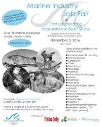 marine industry job fair at flibs advanced mechanical job fair poster16x20