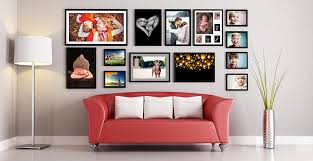 framed photo print wall collage example