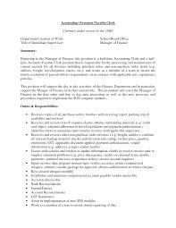 Resume Accounting Clerk Resume