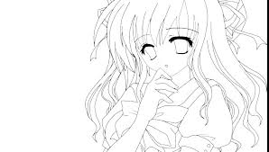 Anime Couples Coloring Pages Anime Couple Coloring Pages Girls Anime