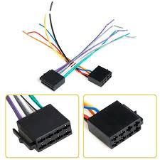 universal female iso wiring harness car radio adaptor connector wire Scosche Car Stereo Wiring Harness universal female iso wiring harness car radio adaptor connector wire plug 1 pair