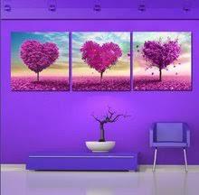 oil painting <b>purple</b> tree