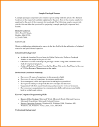 6 Paralegal Resume Examples Address Example