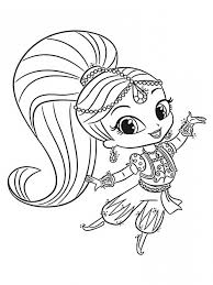 Shimmer And Shine Coloring Pages Dxjz Shimmer Shine Coloring Pages