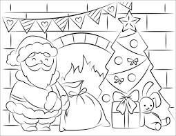 Disegno Di Babbo Natale Porta I Regali Di Natale Da Colorare