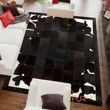 reduced patchwork cowhide rug k 1701 black brown white