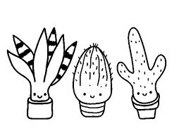 Small Picture Mini cactus coloring page Coloringcrewcom
