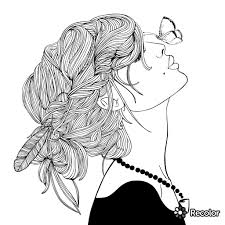 Tumblr Coloring Pages Girl People Download For Hipster Parkspfeorg