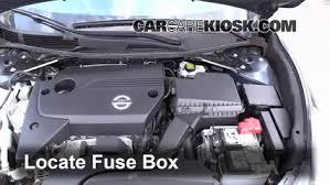 replace a fuse 2013 2017 nissan altima 2014 nissan altima s 2 5l locate engine fuse box and remove cover