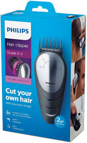 philips diy hair clipper qc5570 13 with 180 degree rotation for easy reach