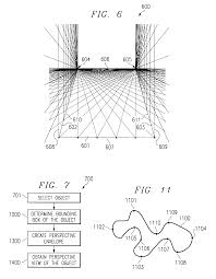 US06771276 20040803 D00003 patent us6771276 two dimensional drawing environment utilizing on 3 point perspective template