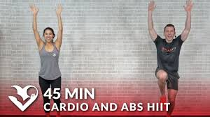 45 min cardio and abs hiit hasfit