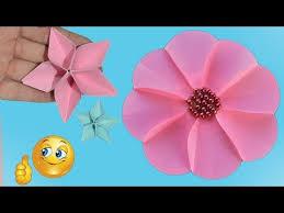 Paper Flower Making Video 3 Easy Paper Flowers Flower Making Decor Handmade Crafts Idea