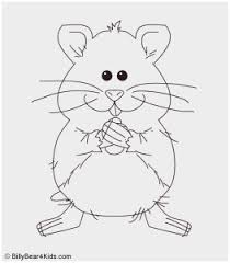 Hamster Coloring Pages Printable Good Cute Hamster In Guinea Pig