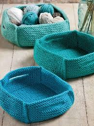 Knitted Basket Pattern