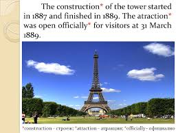 「1889 – The Eiffel Tower is officially opened.」の画像検索結果