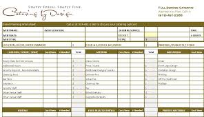 Wedding Planning Budget Calculator Wedding Catering Budget Worksheet Advanced And Simple