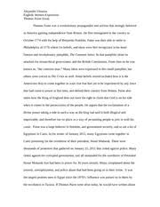 english essay the i and palestinian conflict over the gaza 4 pages english essay thomas paine and his success