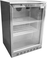 beerkool stainless steel single glass door alfresco fridge image 1