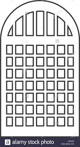 Silhouette Of Building Window Icon Stock Vector Art Illustration