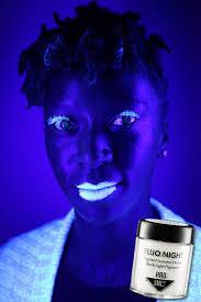 fluo night black light make up