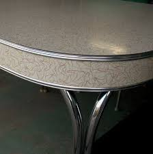 Retro Chrome Kitchen Table Vintage Formica And Chrome Table With Boomerang Pattern Love This