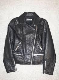 mint velvet black faux leather biker jacket size 16