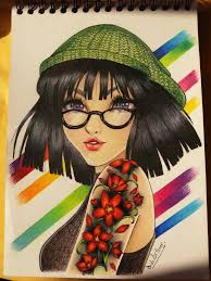 color pencil essay hipster girl by dido antares on  color pencil essay 1 hipster girl by dido antares