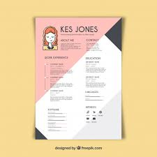 Unique Resume Templates Simple Graphic Designer Resume Template Vector Free Download