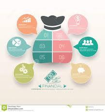 Business Financial Infographics Template Design Stock Vector