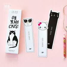 kawaii cat bookmark cartoon page marks stationery office accessories school supplies marcapaginas de papel bookmark cartoon page marks stationery office