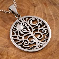 sterling silver sun moon tree of life