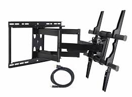 secu heavy duty full motion tv wall mount articulating bracket for vizio 50 55 60 65